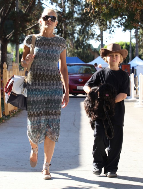 Sharon Stone's Political Flee Market Day With Roan