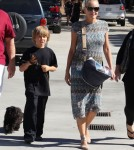 Exclusive... Sharon Stone And Son Roan Shopping In West Hollywood