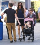 Semi-Exclusive... Victoria Beckham Takes Her Kids To Universal City Walk