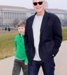 David Letterman and Son Harry Visit the Washington Monument