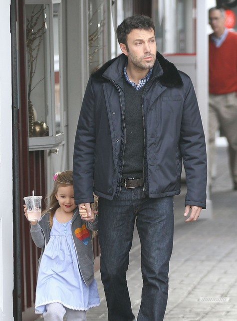 Ben Affleck Walks With His Adorable Daughter Seraphina As She Skips Along
