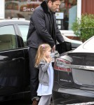 Ben Affleck Takes Seraphina To Breakfast