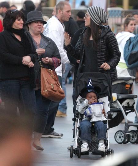 Sandra Bullock Takes Her Son Louis To Disneyland