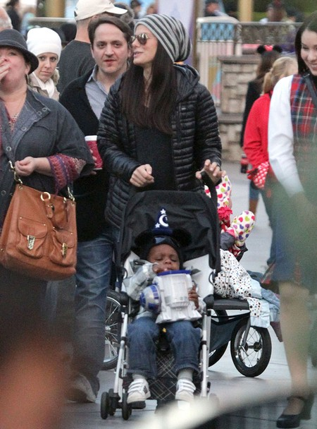 Sandra Bullock Takes Her Son Louis To Disneyland