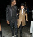 Kim & Kanye Dine Out At Spago Restaurant