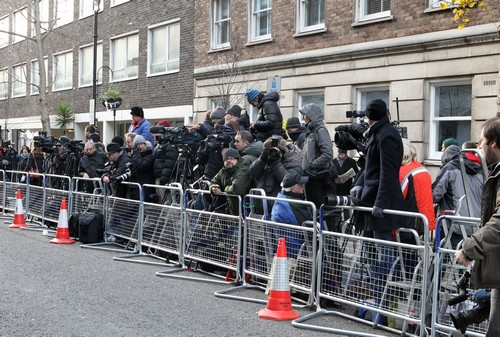 How Crazy Is This? Hoards of Press Camp Outside Kate Middleton's Hospital! (Photos)