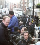 The Press Camp Out Outside Kate Middleton's Hospital
