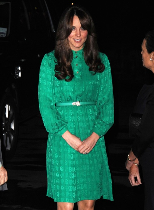Kate Middleton Hides Her Pregnant Baby Bump at the opening of Natural History Museum In London