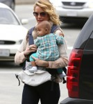 Katherine Heigl And Daughter Adalaide Departing On A Flight At LAX