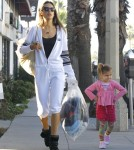Semi-Exclusive... Alessandra Ambrosio Drops Her Daughter Off At School