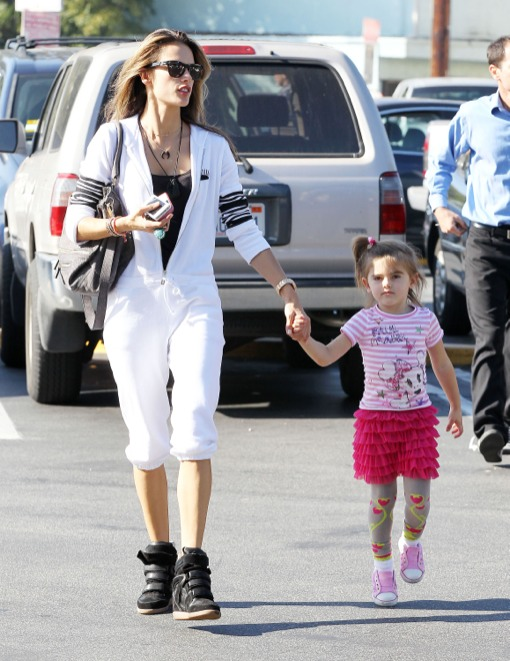 Alessandra Ambrosio Enjoys Monday With Her Little Fashionista