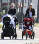 Exclusive... Anna Paquin Takes Her Kids For A Walk