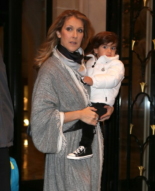 Celine Dion Amp Family Leaving Their Hotel In Paris Celeb Baby Laundry