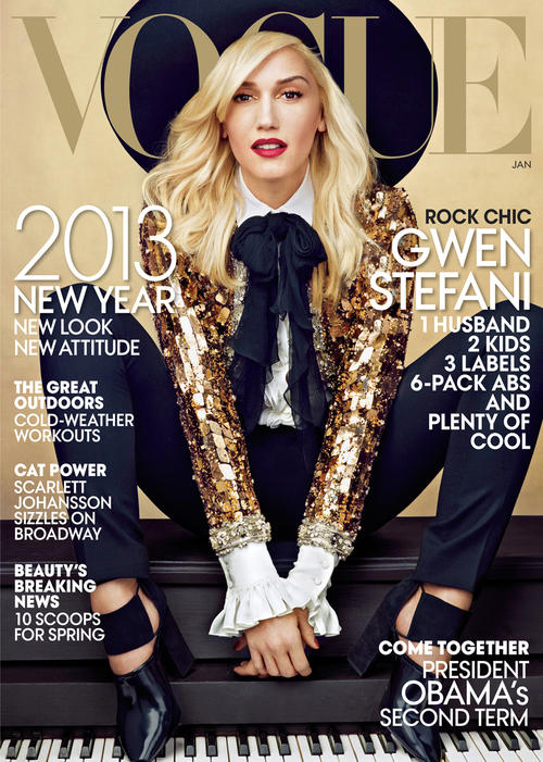 Gwen Stefani Covers Vogue January 2013