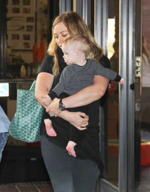 Hilary Duff Bonds With Son Luca