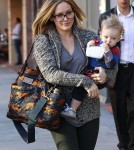 Hilary Duff Takes Luca To The Doctors