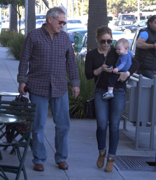 Hilary Duff And Family Out For Lunch In Bevelry Hills