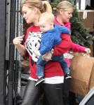 Hilary Duff Takes Luca Shopping