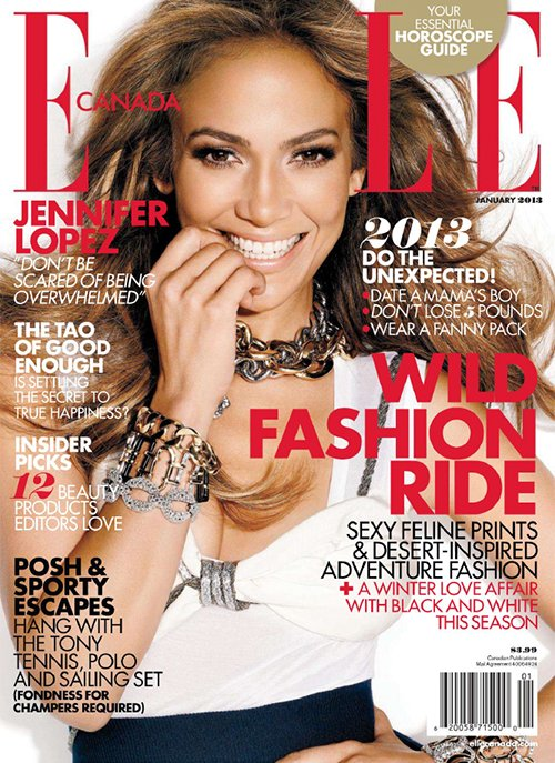 Jennifer Lopez Covers Elle Magazine