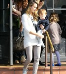 Jessica Alba Takes The Girls Out To Lunch And Shopping