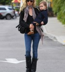 Kimberly Stewart Out And About With Daughter Delilah