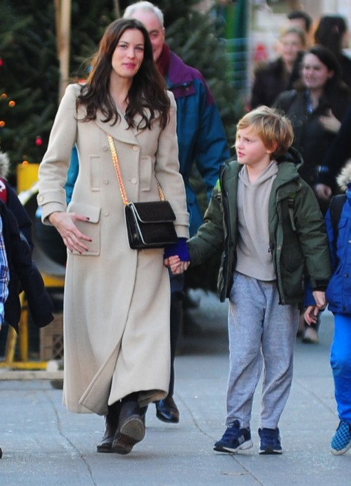 Liv Tyler Picks Up Her Birthday Boy