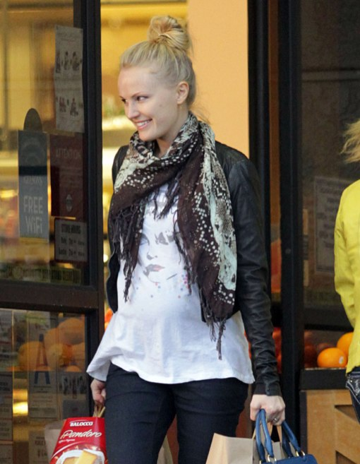 Semi-Exclusive... Pregnant Malin Akerman Shops At Gelson's
