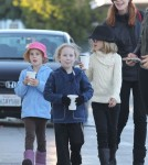 Marcia Cross Takes Her Daughters To The Ice Skating Rink