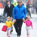 Matthew Broderick Walks His Girls To School