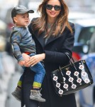 Miranda Kerr Takes Flynn For A Walk In New York City