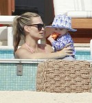 Molly Sims And Family Enjoy A Day At The Pool In Cabo