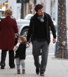 Exclusive... Orlando Bloom And His Son Flynn Shop In Beverly Hills