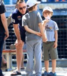 Russell Crowe Takes His Boys Out To Lunch In Sydney