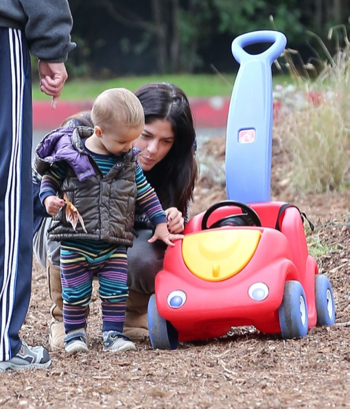 Selma Blair's Canyon Day With Arthur