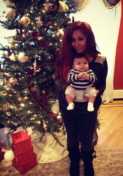 Snooki Tweets Christmas Picture of Lorenzo