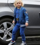 Zuma Rossdale Getting Dropped Off At School