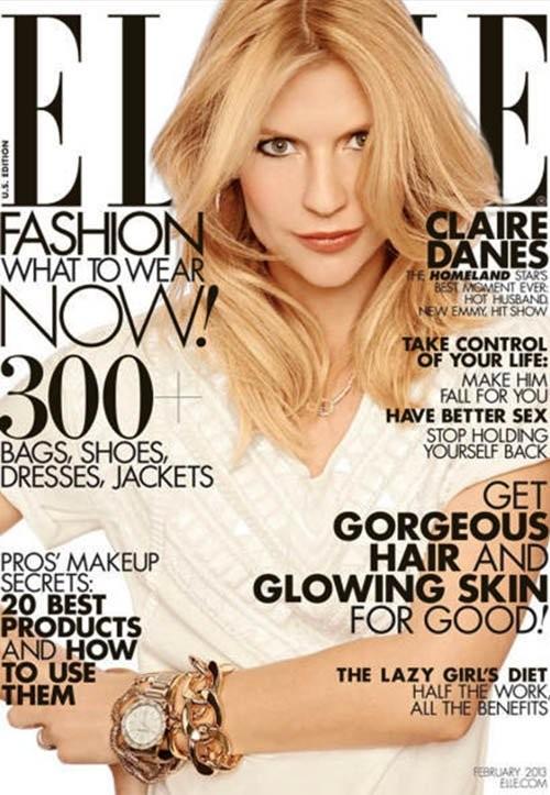 Claire Danes Covers Elle Magazine