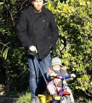Exclusive... Ewan McGregor Takes Son Anouk Out For A Walk