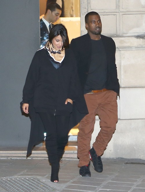 Kim Kardashian and Kanye West Babymooning in the City of Lights