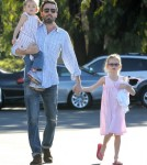 Ben Affleck Takes His Girls To The Farmers Market