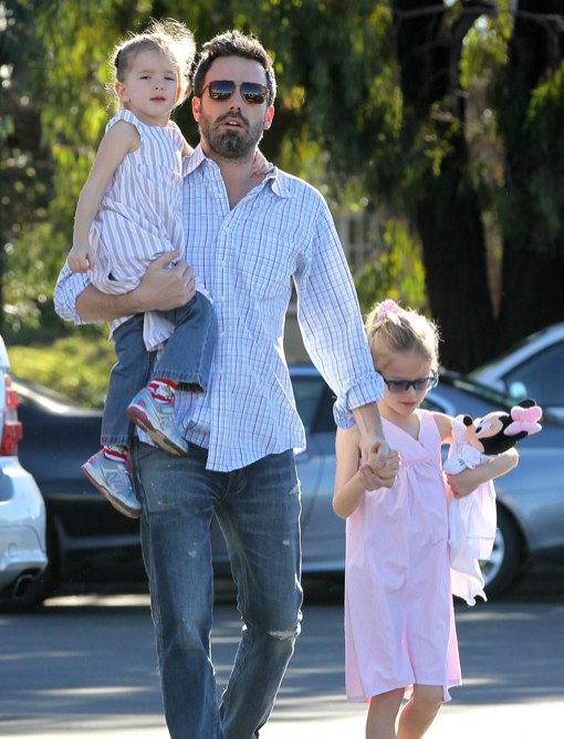 Ben Affleck Bonds With His Girls at the Market