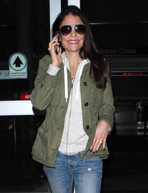 Bethenny Frankel Arriving On A Flight At LAX