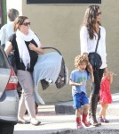 Exclusive... Camila Alves Takes Her Kids Out For Lunch