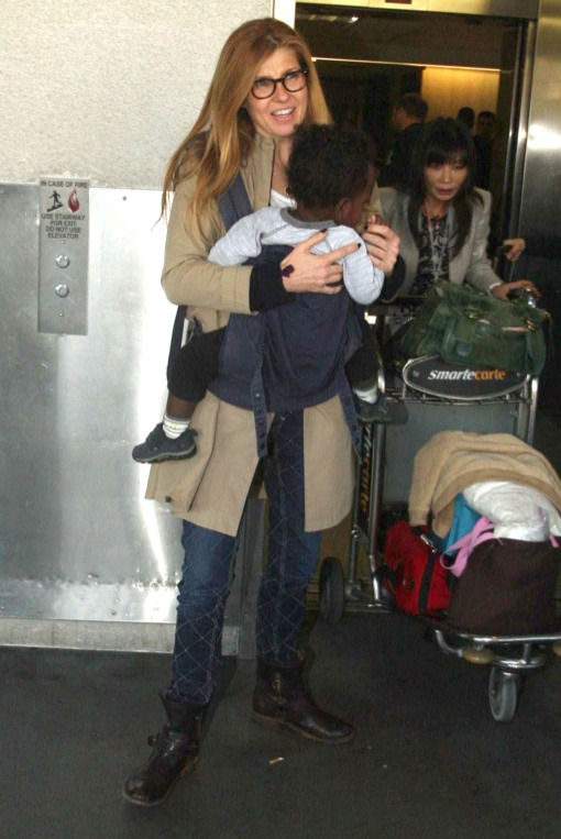 Connie Britton Touches Down With Eyob