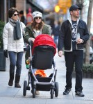 Drew Barrymore & Will Kopelman Take Olive For A Stroll