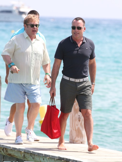 Elton John & David Furnish Head To Club 55