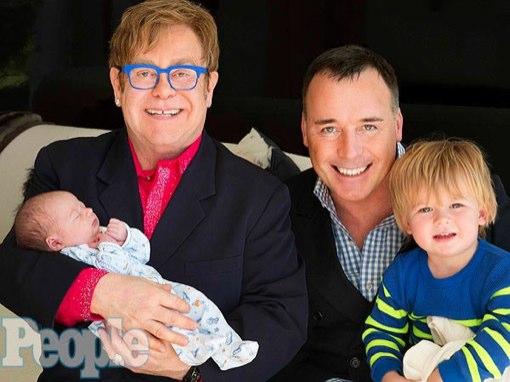 Elton John & David Furnish Debut Newborn Son Elijah Joseph Daniel