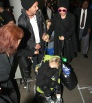 Gwen Stefani and Family at LAX