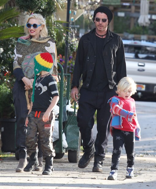 Gwen Stefani & Gavin Rossdale Spend The Weekend With Their Kids