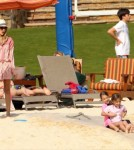Exclusive... Another Day On The Beach For Hot Hollywood Couple Jessica Alba And Cash Warren